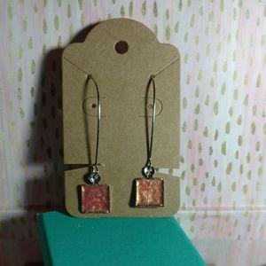 Jewelry - Hand painted enamel charm earrings